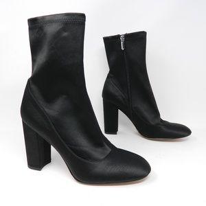 Sam Edelman Booties Size Calexa Black Satin Sock